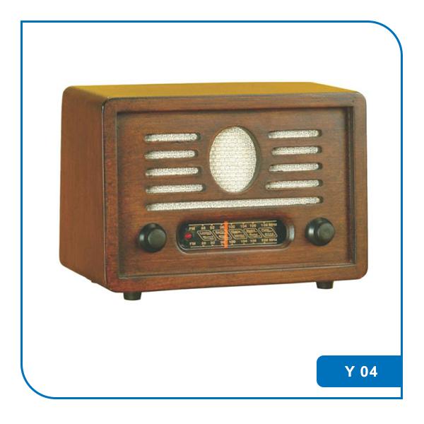 Ahşap Nostaljik Radyo Y 04